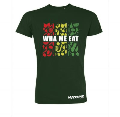Wha Me Eat Tshirt Front Green
