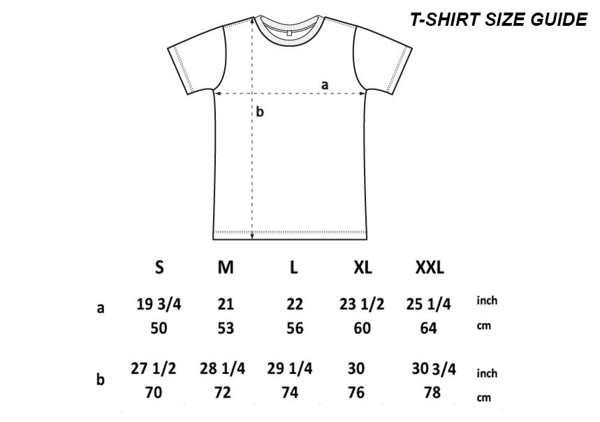 Macka B T-Shirt Size Guide