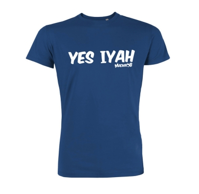Yes Iyah T Shirt Blue Macka B