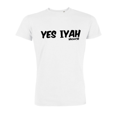 Yes Iyah T Shirt White Macka B